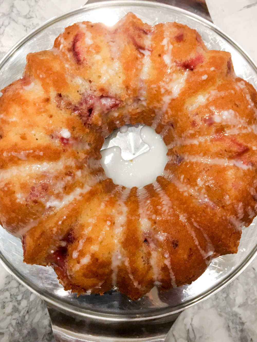 strawberry lemon bundt cake via everyday parisian
