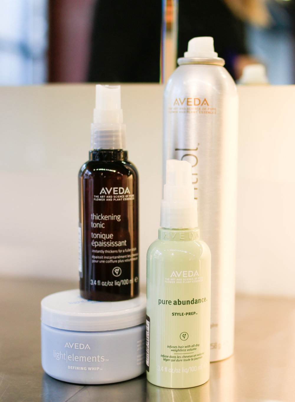 Aveda Products used to style my hair