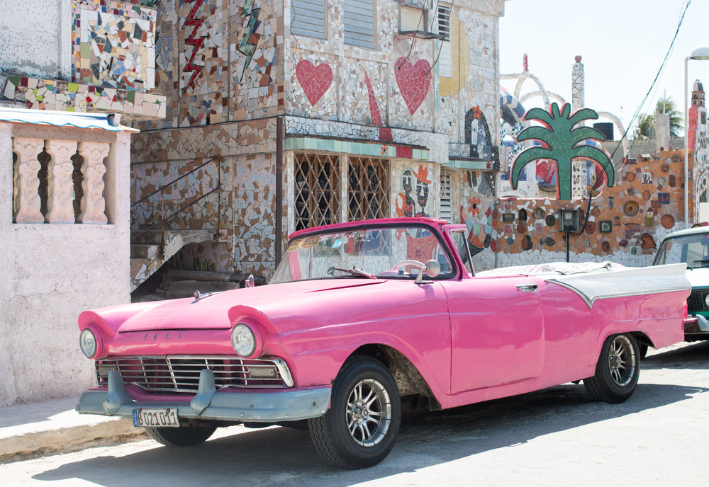 pink car in fusterlandia havana cuba the ultimate havana travel guide