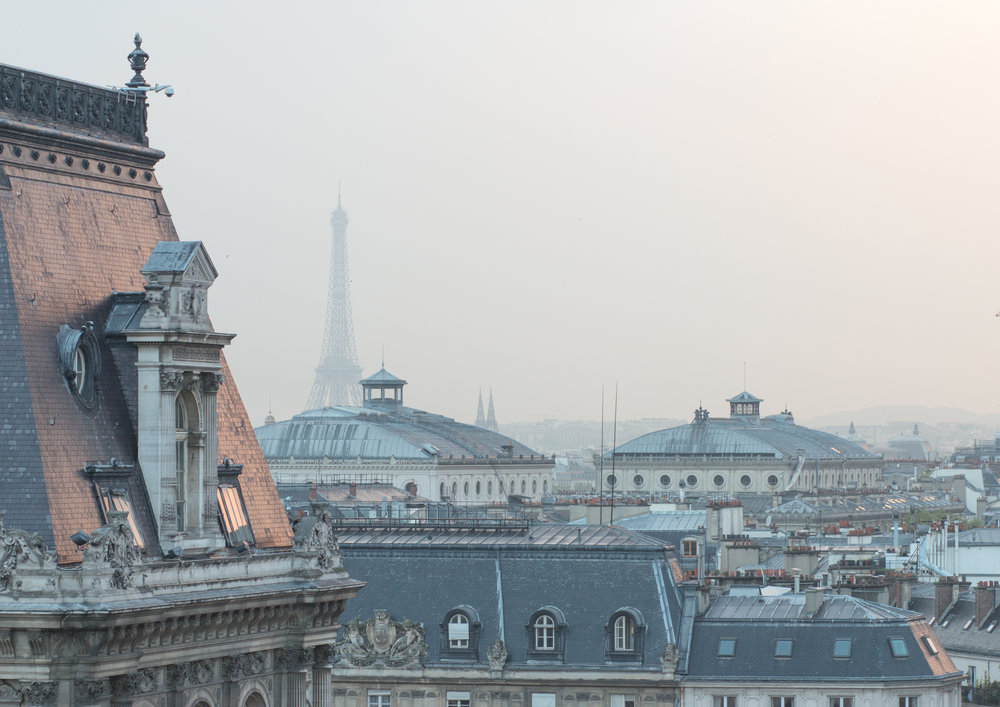 paris rooftops and the eiffel tower via everyday parisian