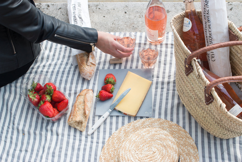 seine picnic in paris, france by everyday parisian