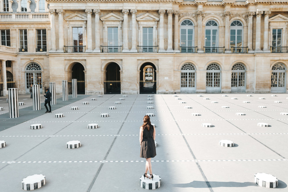rebecca plotnick in palais royal paris, france by iheartparisfr