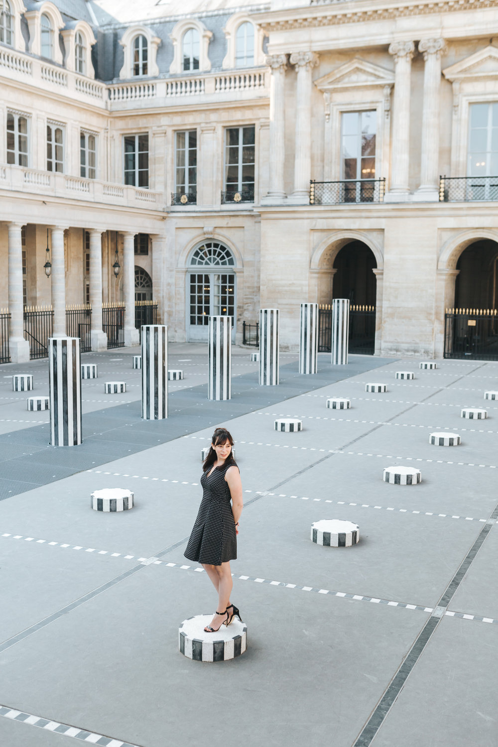 rebecca plotnick in palais royal paris, france photo by iheartparisfr