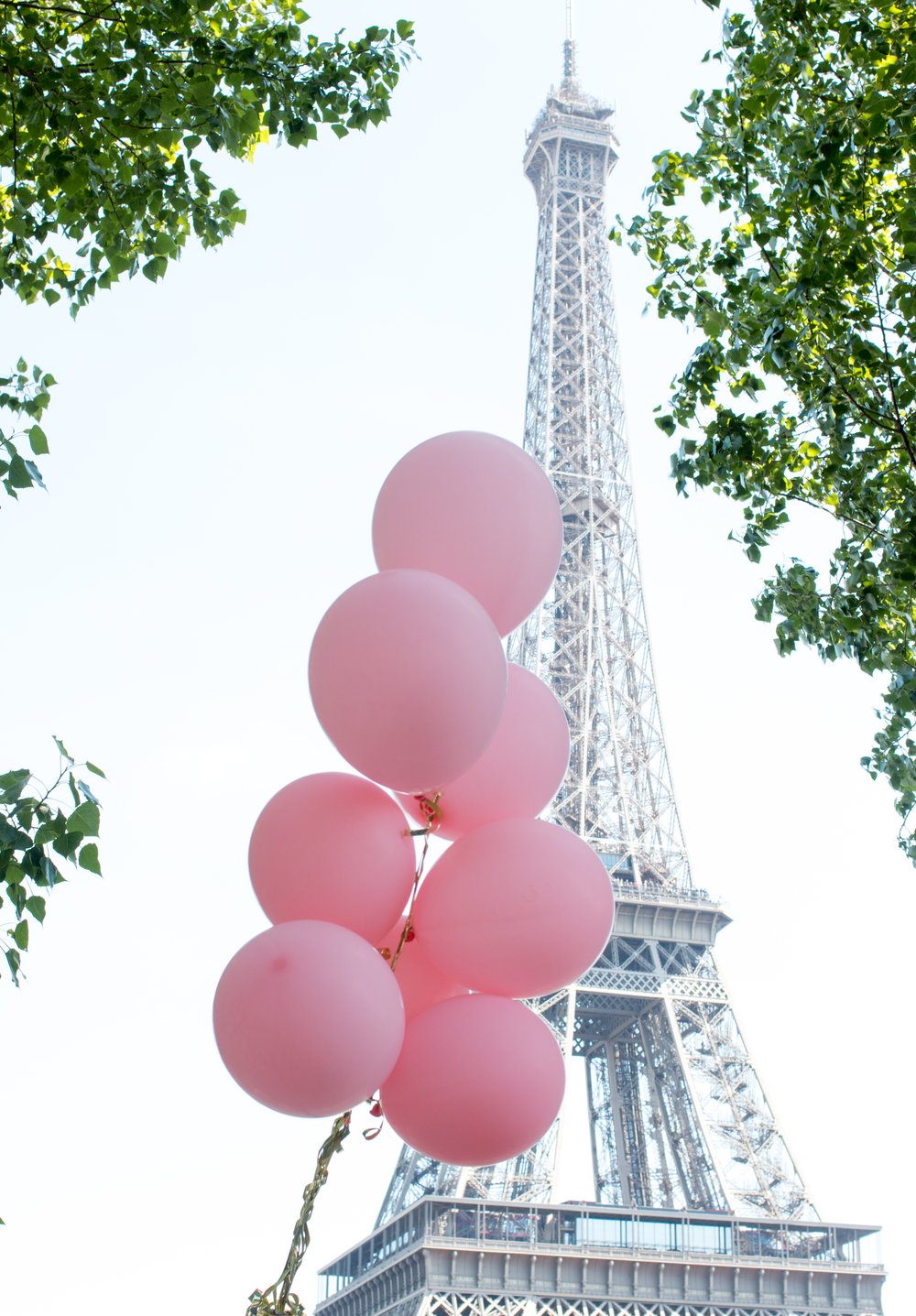 pink balloons with the eiffel tower in paris france via everyday parisian