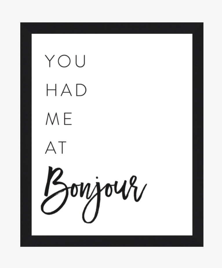 You had Me at Bonjour - 8x10 Print