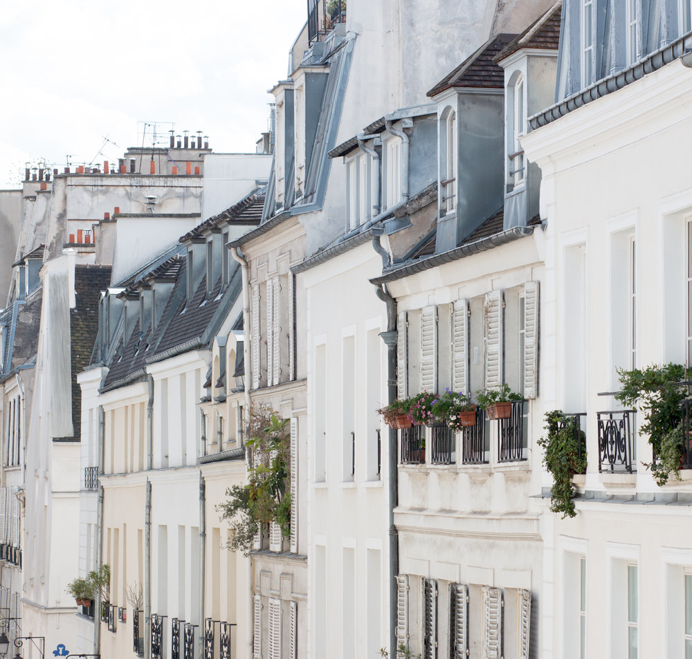 parisian rooftops in the marais by rebecca plotnick