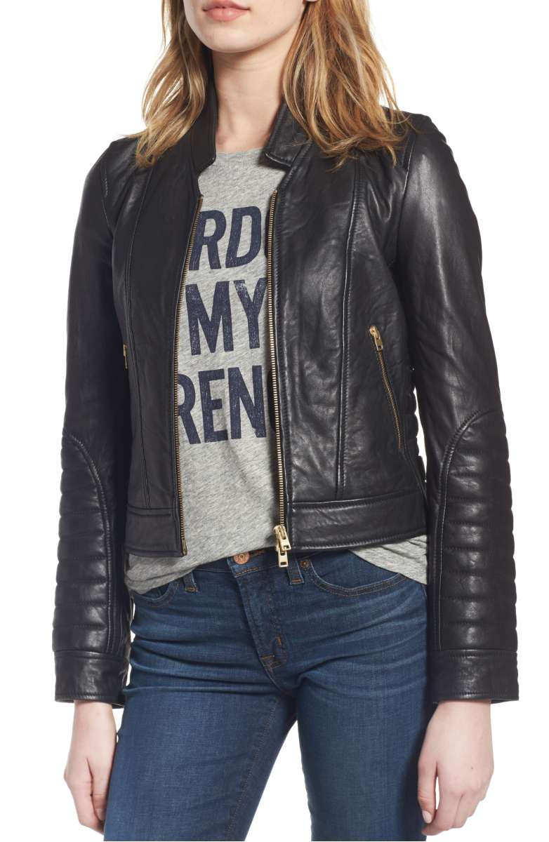 leather jacket jcrew nordstrom sale