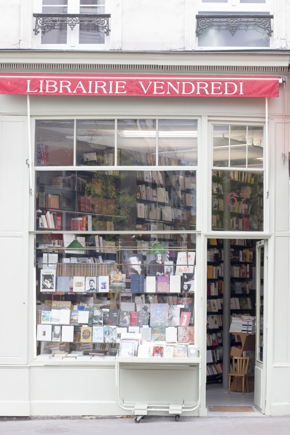 bookshop in montmartre paris, france