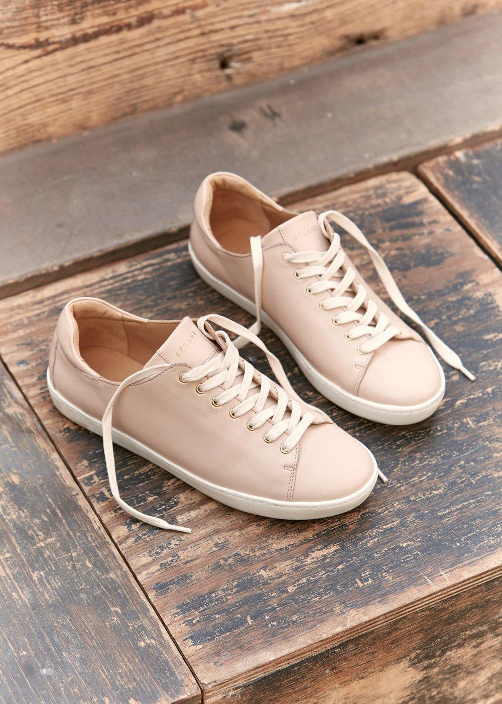 sezane pink sneakers