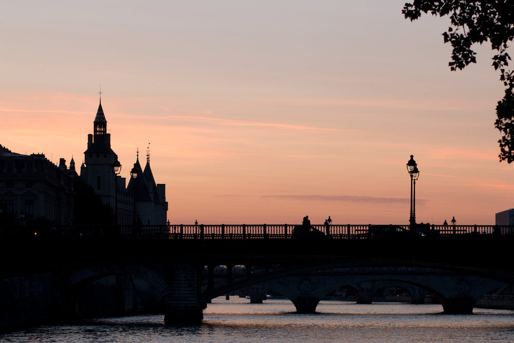 sunset Paris seine by rebecca plotnick