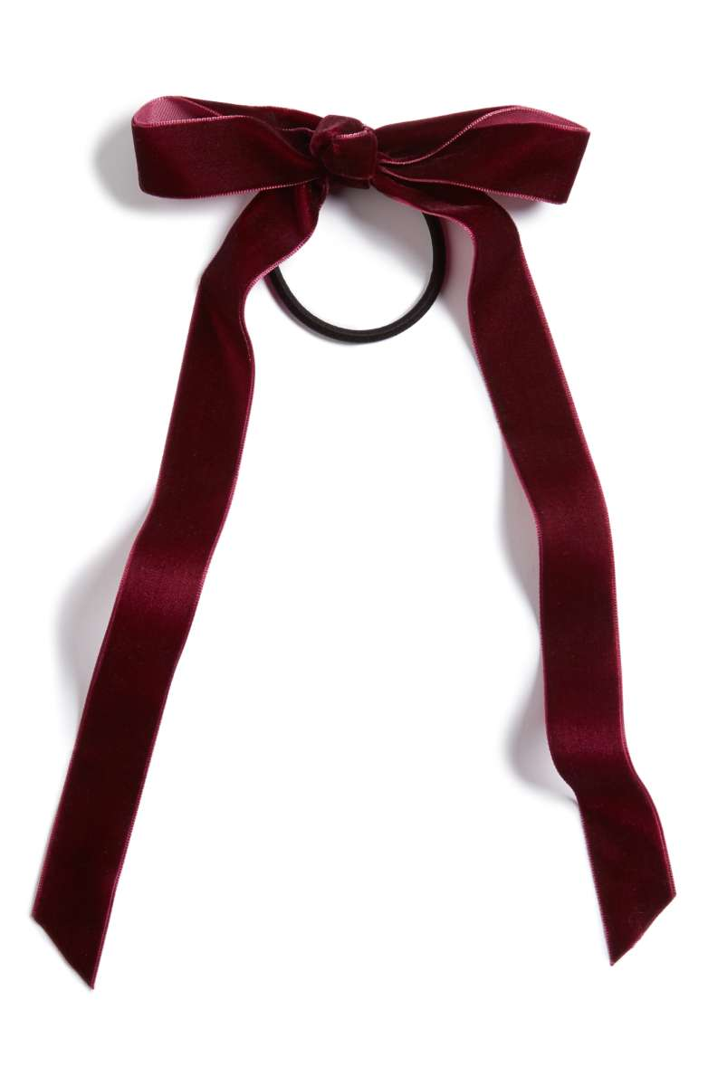 crush velvet bow