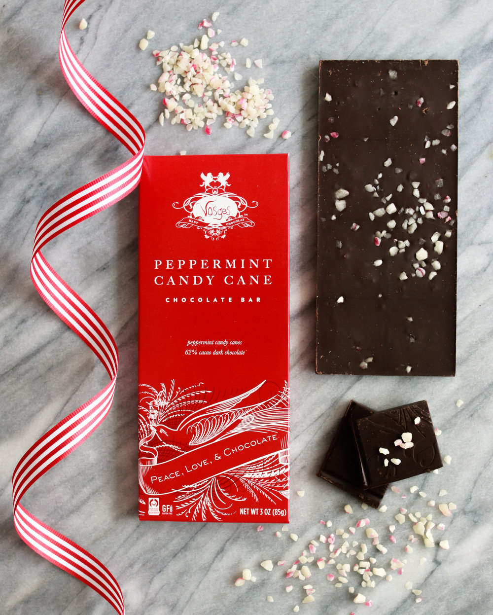 vosges peppermint candy cane bar