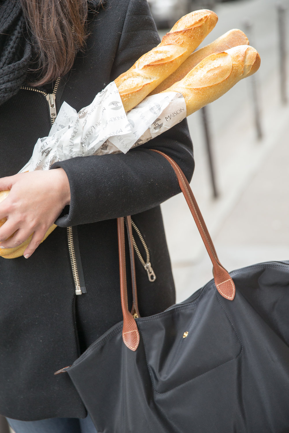Coat/Sandro Scarf/Jcrew   Bag/Longchamp