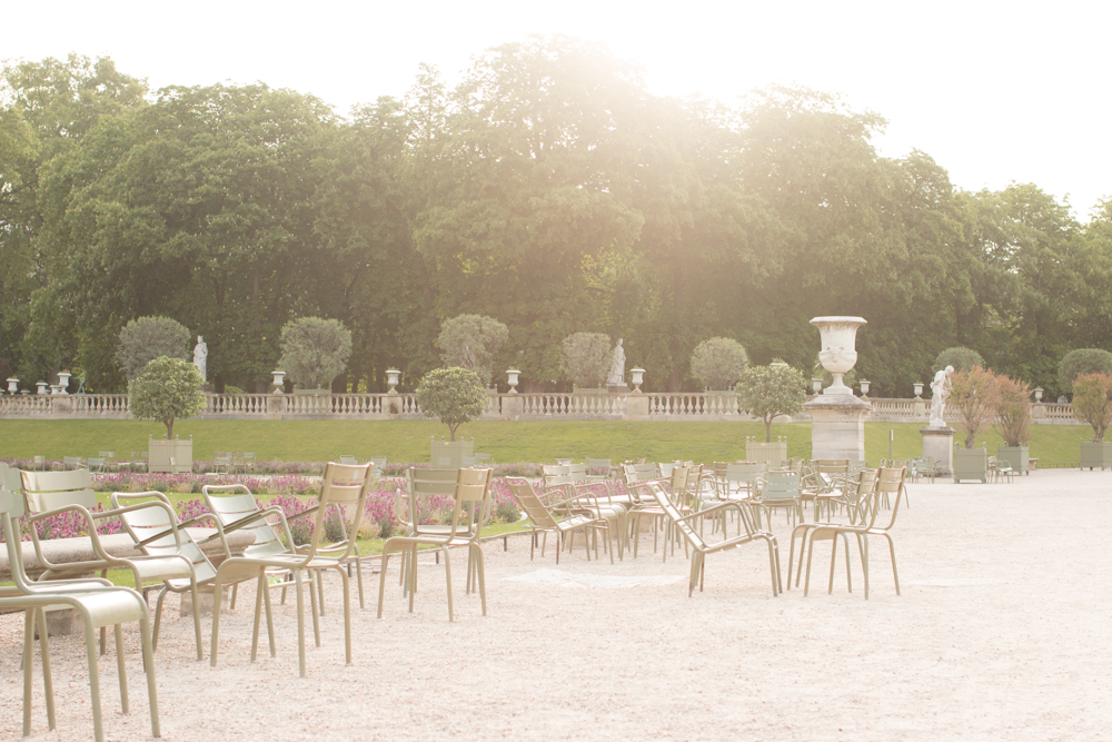 luxembourg gardens spring paris france