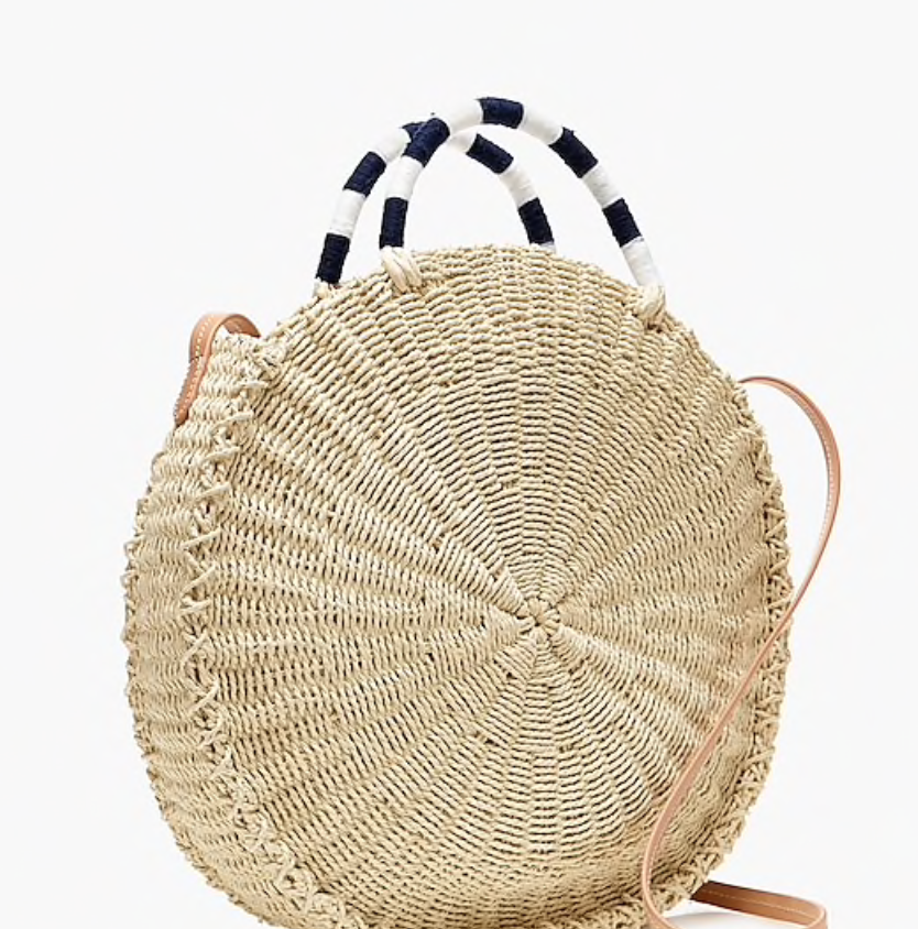jcrew straw bag