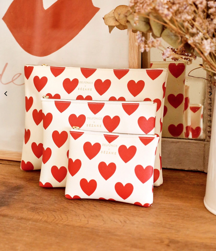 These heart pouches are $30   and perfect to collect all the little things