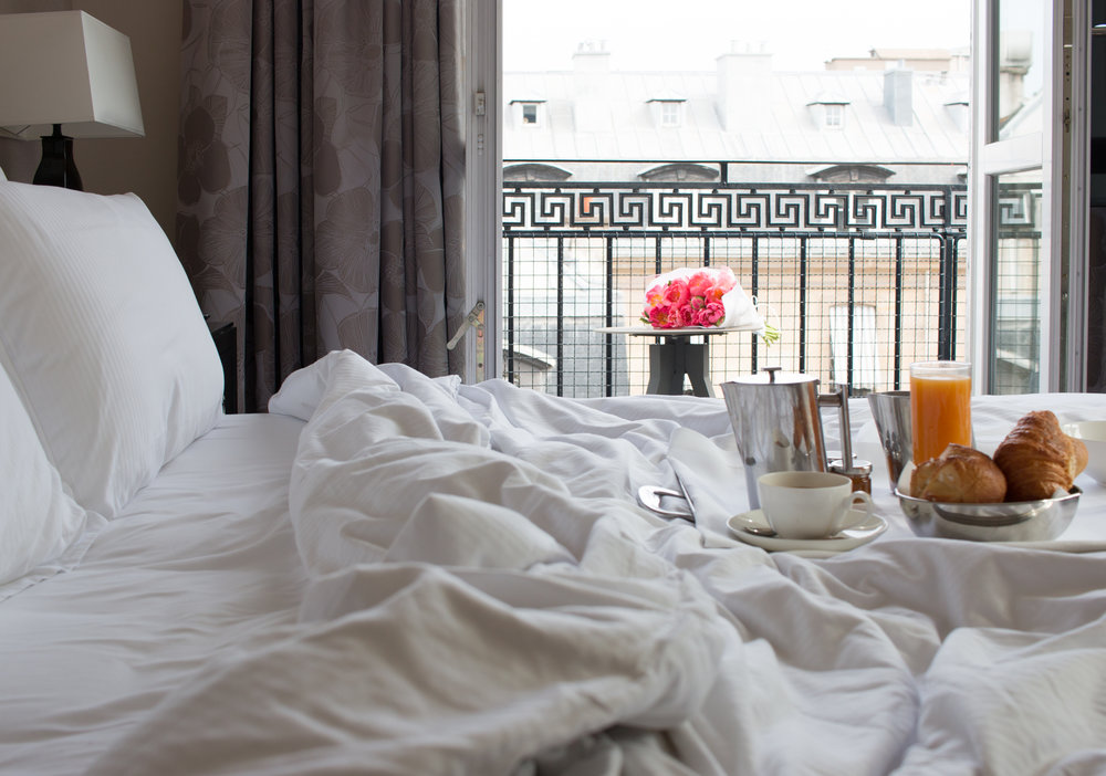 grand hotel du palais royal paris france breakfast in bed