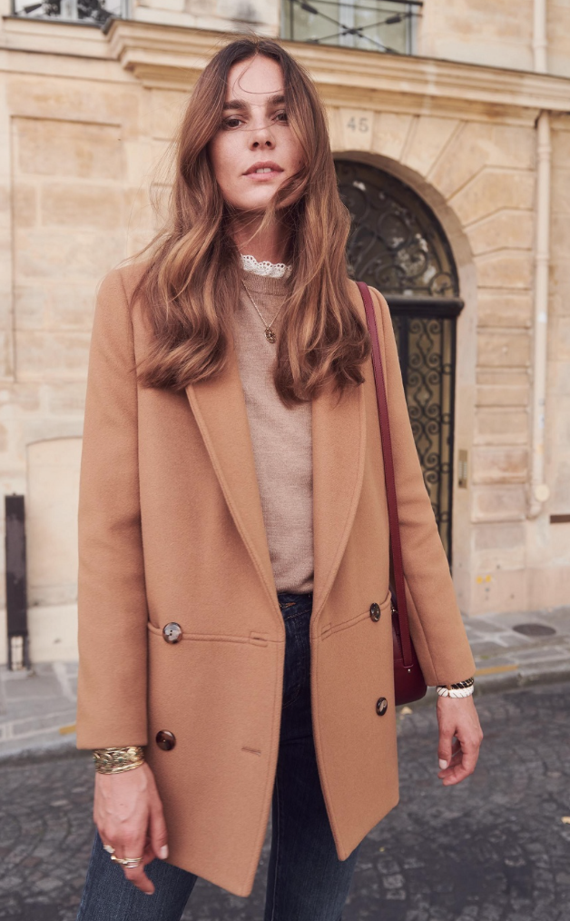 james coat by sezane