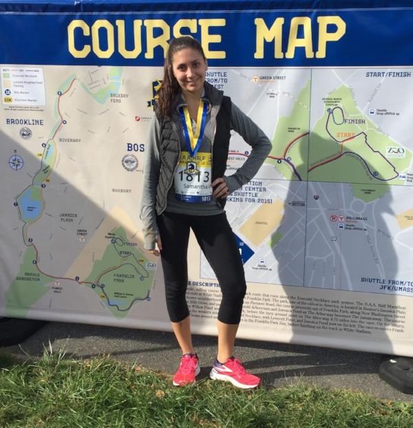 Me after my first half marathon