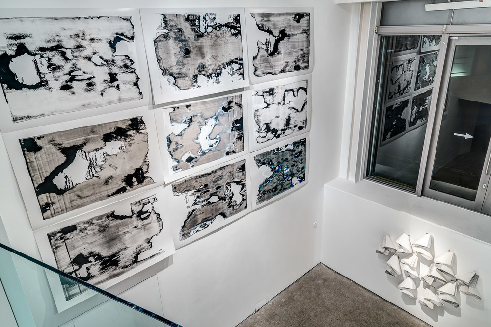 Corrupted Images (Grayscale) (2013) Installation view, Castlefield Gallery, Manchester