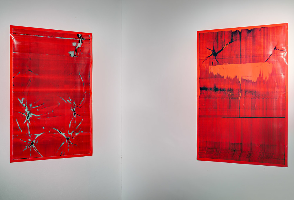 Manipulated Images No's 29 and 34 (2012), Installation view, Castlefield Gallery, Manchester.