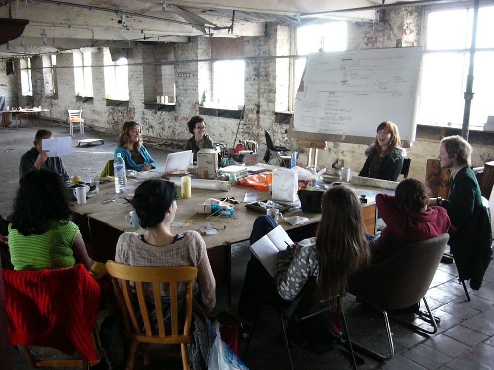 Discussion group, 5th floor studio, Islington Mill (2007)