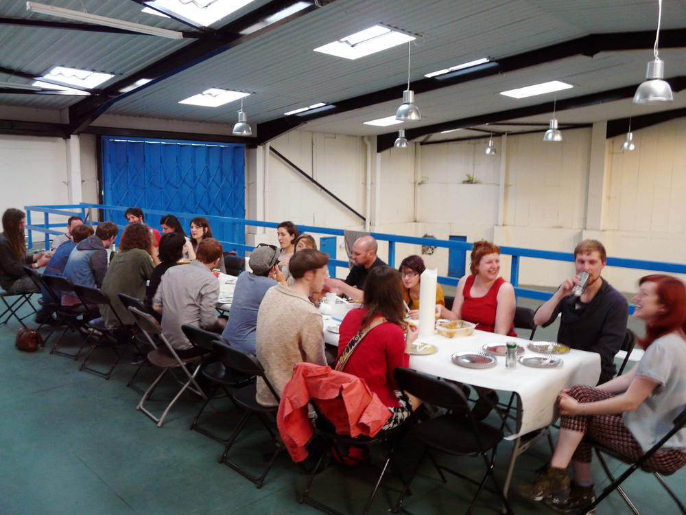 Performance Publishing: Regent Trading Estate (2013), 'Potluck Dinner' event