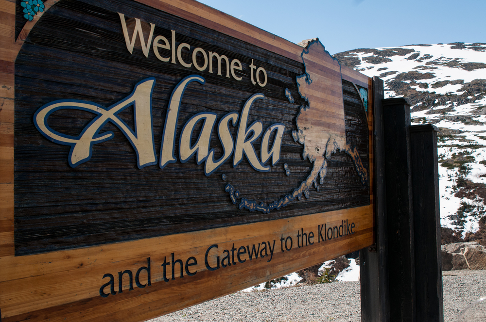 Welcome to Alaska Sign  -  Photo by Flynn Photography