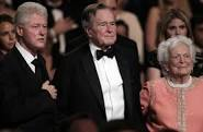 Clinton with former Pres. Bush & the first lady