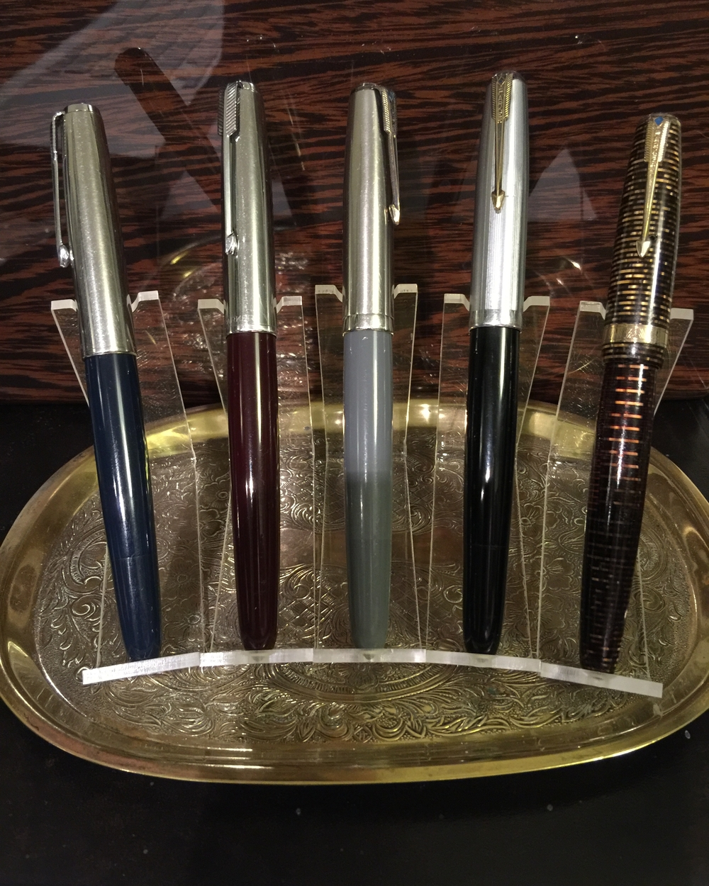 These are my Parker's, 3 Parker 51 Vacumatic, 1 Parker 51 Aerometric and the 1944 Vacumatic