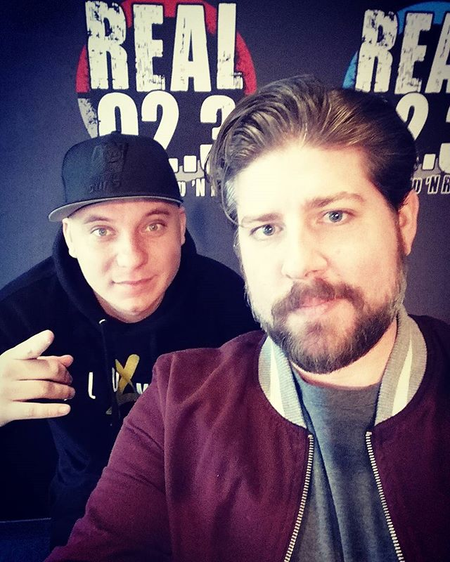 White boys taking over the @real923la studio today. Me and @bootlegkev here until 3PM today. You worried, @djhed? #radiolife #NYE #2017
