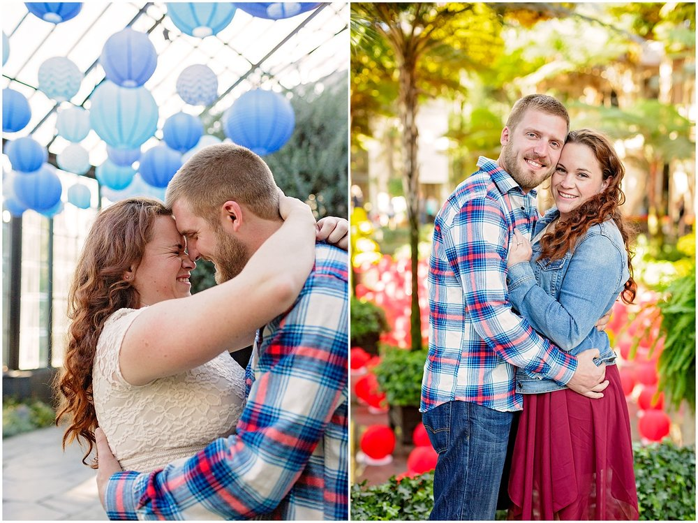 Longwood Gardens Engagement Photoshoot Wedding Photographer