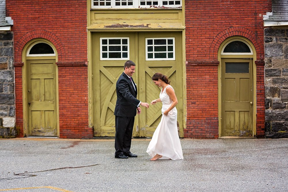 West Chester Pennsylvania Wedding Photographer Family Vow Renewal Anniversary Oakbourne Mansion Park rain photoshoot