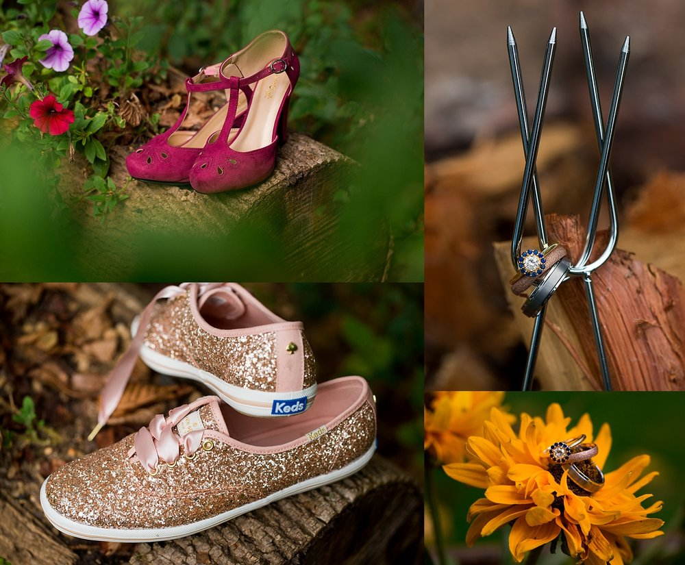 Intimate Backyard Fall Pennsylvania Wedding Photographer
