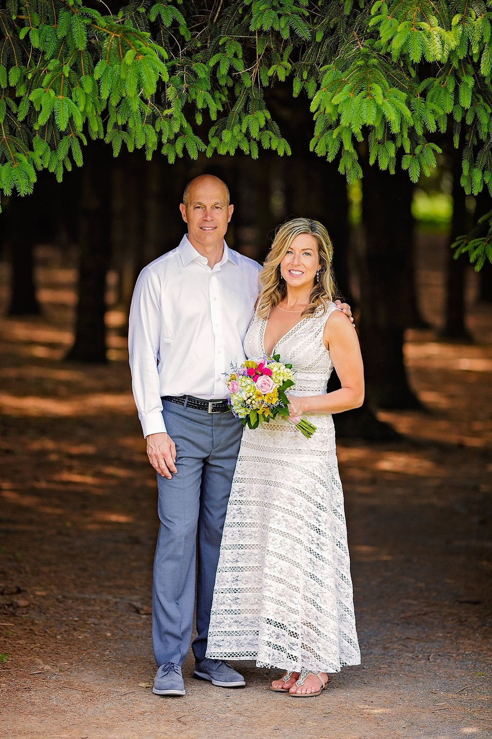 Wyomissing Park Berks County intimate summer wedding ceremony photographer