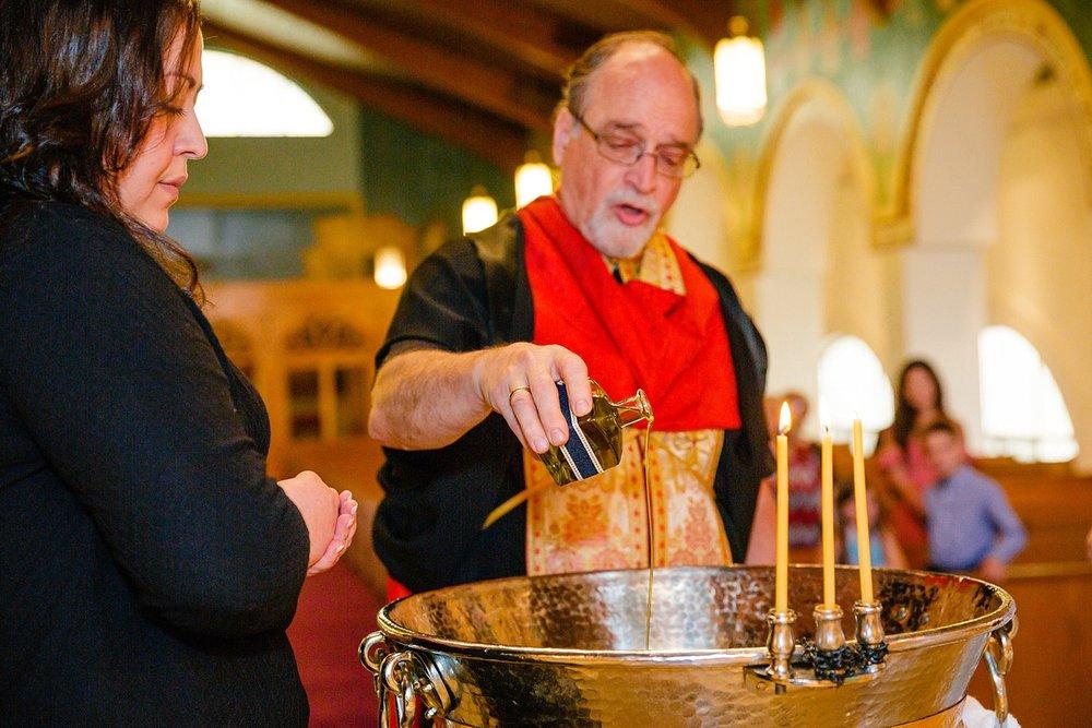 Wyomissing Reading Pennsylvania Greek Orthodox baptism photographer