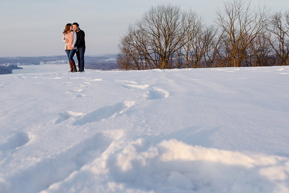 Blue Marsh Lake Berks County Pennsylvania snowy winter maternity portraits photographer