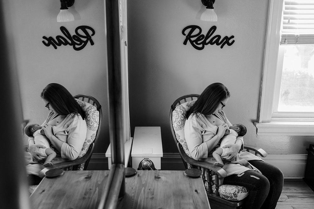 in-home lifestyle newborn photoshoot Harrisburg photographer