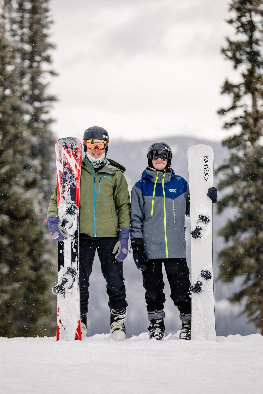 Copper Mountain Colorado snowboard senior portrait destination photoshoot photographer