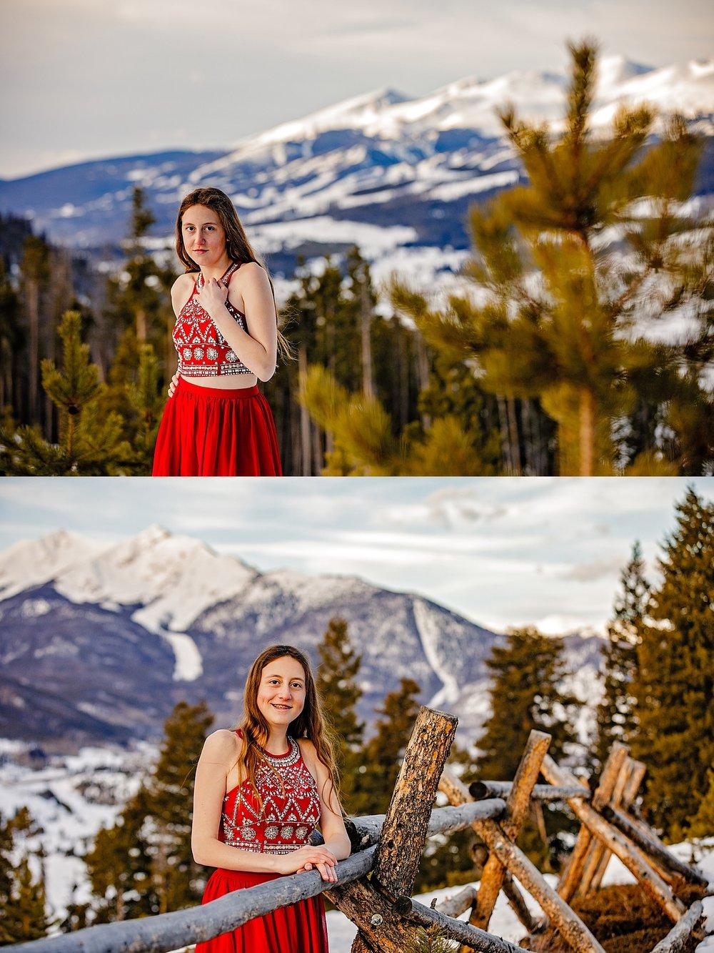 Copper Mountain Breckenridge Colorado senior portrait destination snowboard photographer Sapphire Point Lake Dillon