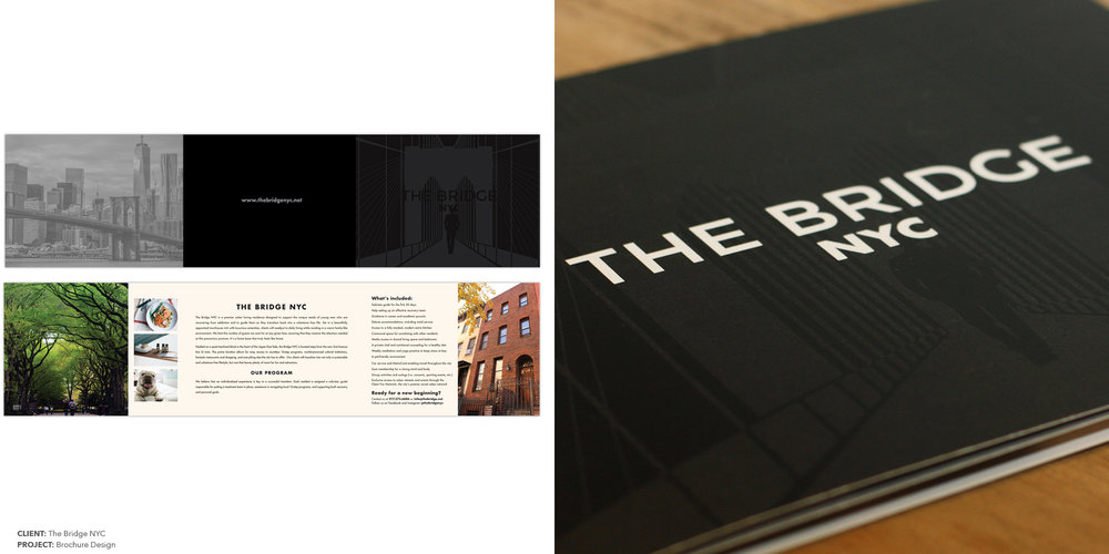 MARKETING BROCHURE  CLIENT:  THE BRIDGE NYC  Design & Production Copywriter: Jenn Kantor