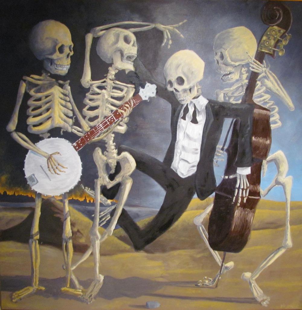 "Danse Macabre,  Oil on Canvas, 36"" x 36"", 2016"