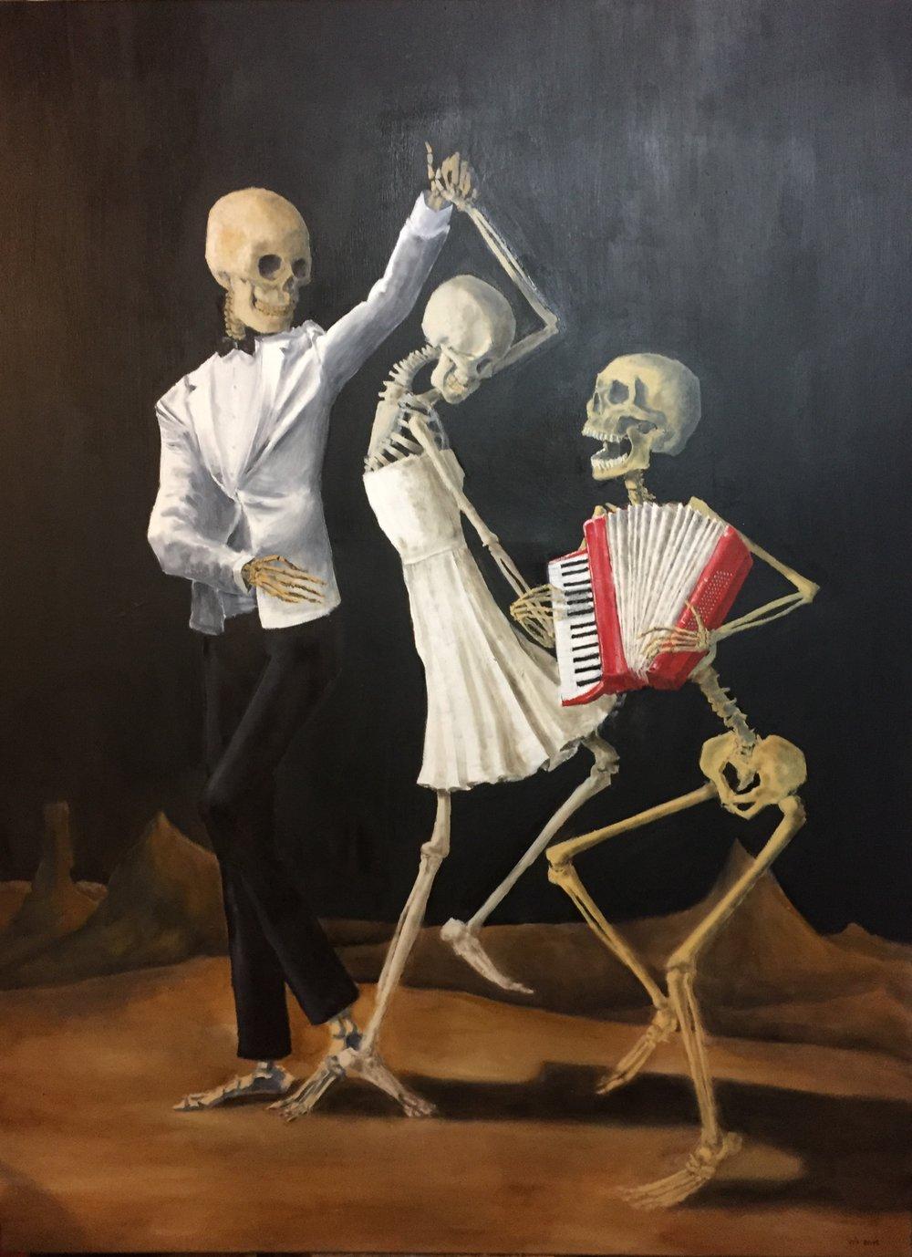 "Danse Macabre No. 2; Oil on Canvas; 30""x40"", 2018"