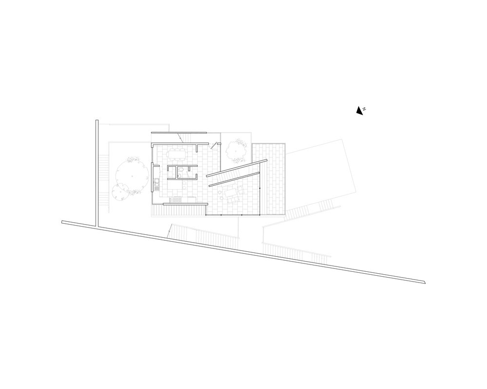 Floor -02 (minus two), kitchen, living level