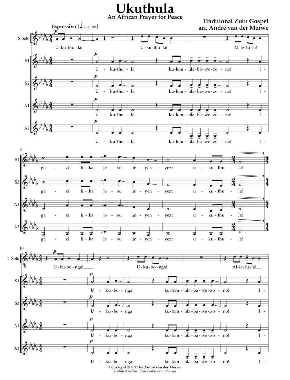 Ukuthula - Arrange by AV4P