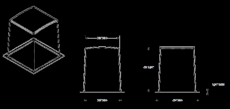 """36"""" Fiberglass Enclosure Cube"""