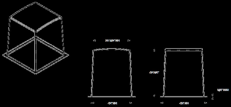 """42"""" Fiberglass Enclosure Cube"""