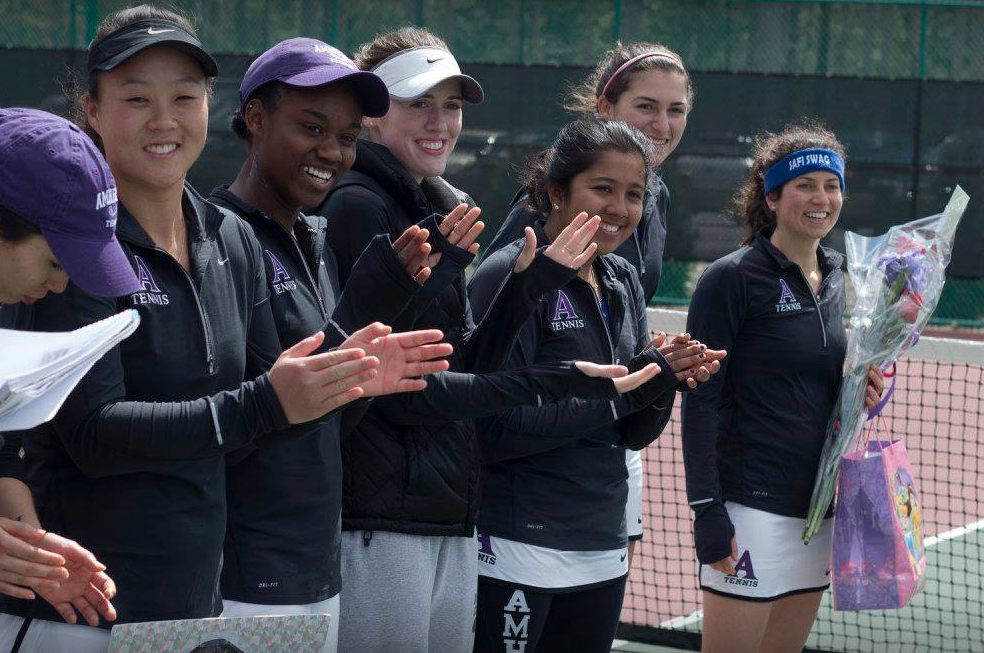 Lola and her Amherst College teammates
