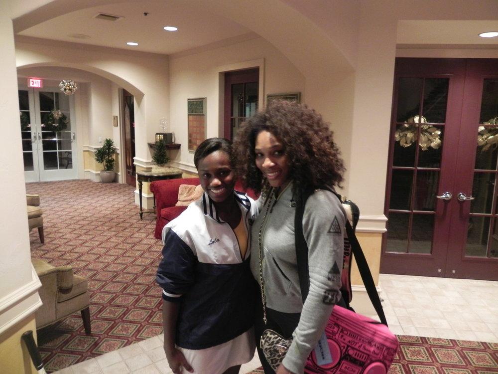 Lola and Serena Williams