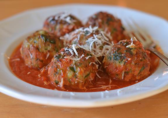 The most delicious turkey meatballs ever.  Credit .